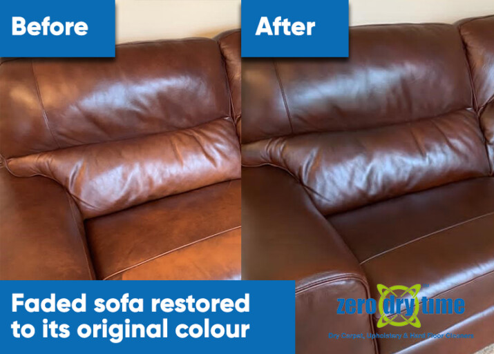 leather upholstery restoration recolour
